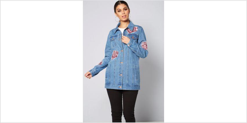 Longline Embellished Denim Jacket from Studio