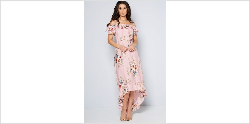 Dip Back Floral Hem Dress from Studio