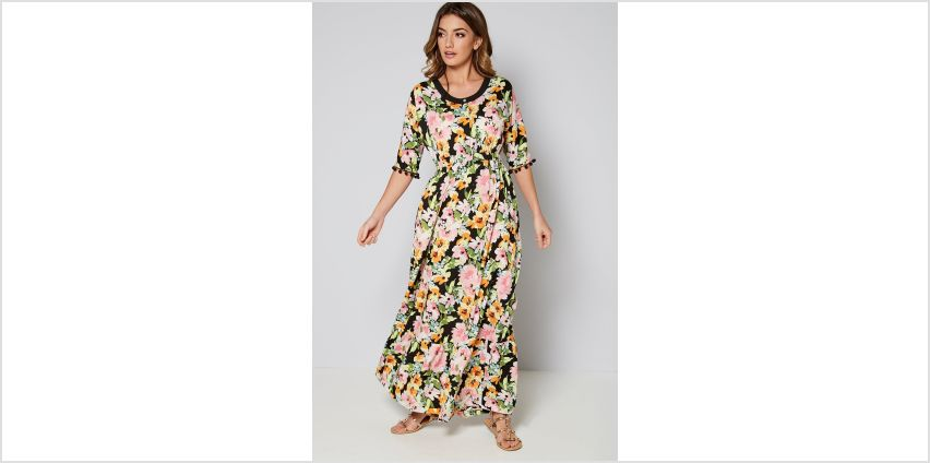 Floral Maxi Dress with Pom Pom Detail from Studio