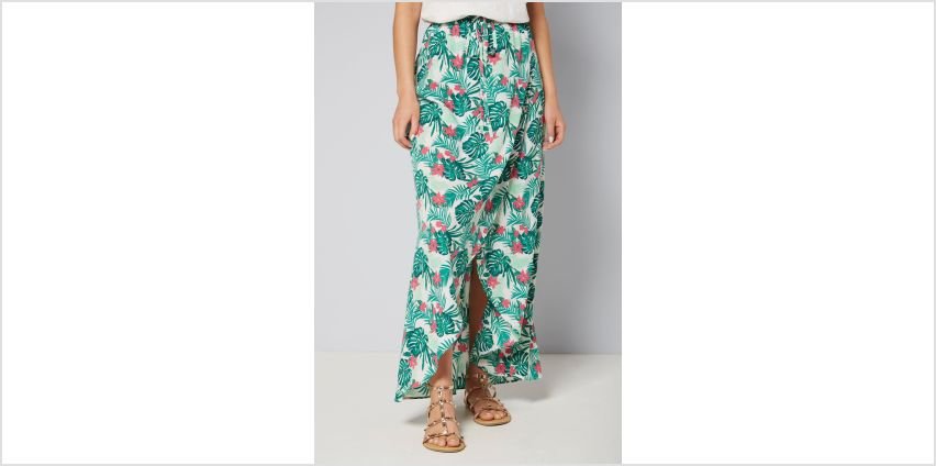 Palm Print Co-ord Wrap Maxi Skirt from Studio