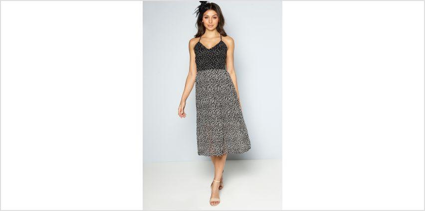 Polka Dot Midi Dress with Fascinator from Studio