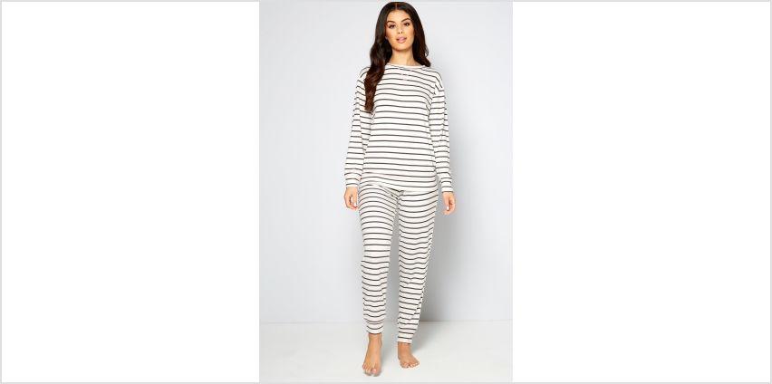 Printed Stripe Long Sleeve Twosie from Studio