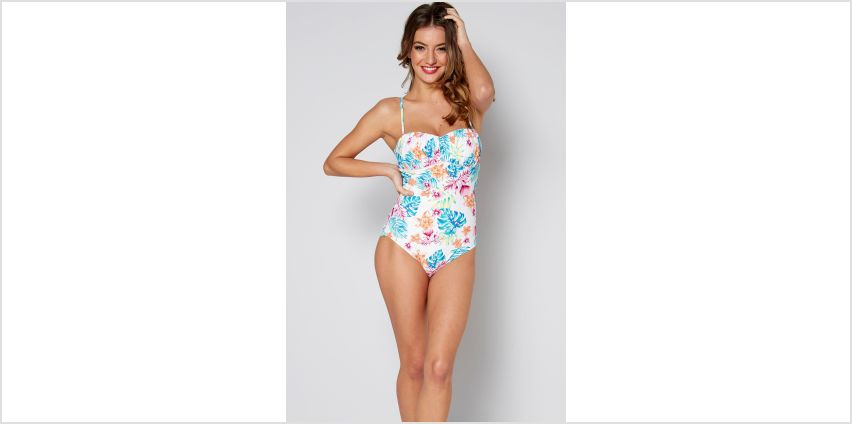 Floral Paradise Ruched Bandeau Swimsuit from Studio