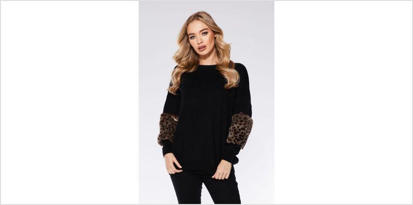 Quiz Leopard Print Knitted Jumper from Studio