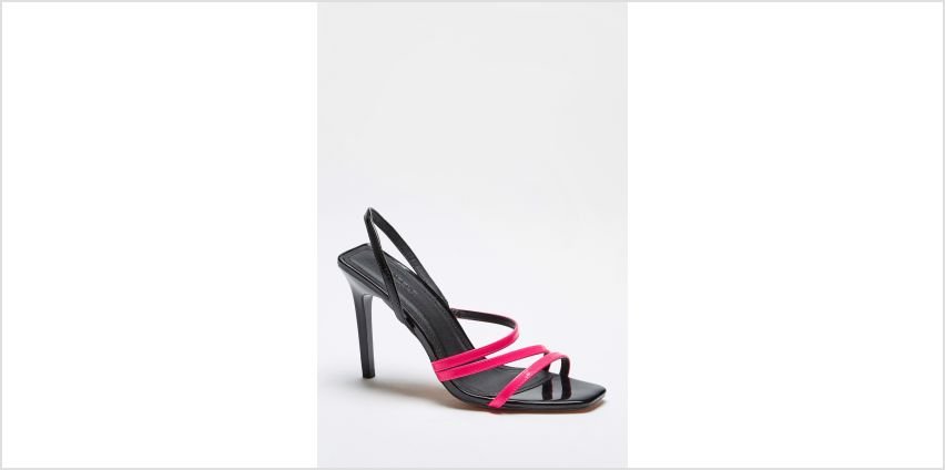 Square Toe Strappy Neon High Heels from Studio