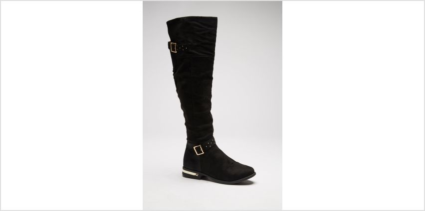 Knee High Boots with Studded Strap Detail from Studio