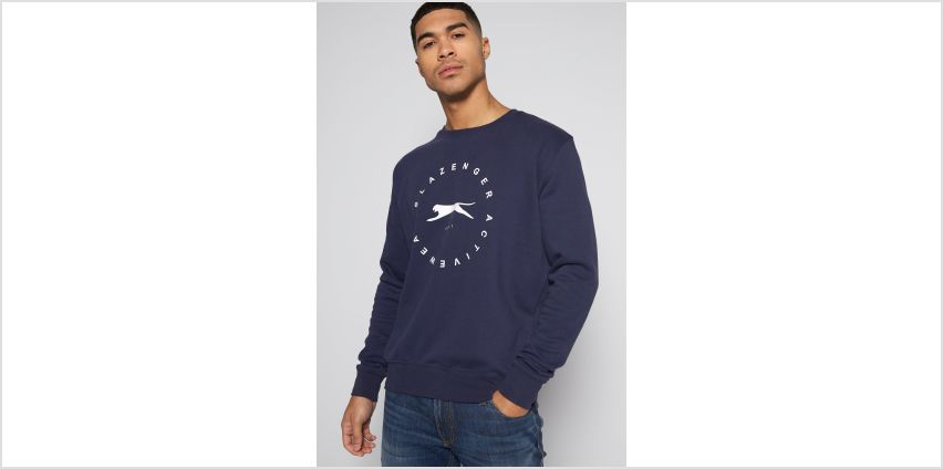 Slazenger Big Logo Crew Neck Jumper from Studio