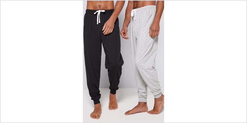 Basic 2 Pack Grey/Black Cuff Trousers from Studio