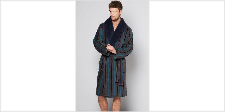 Stripe Shawl Dressing Gown from Studio