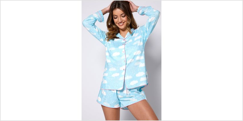 Cloud Boxy Shirt Short Pyjamas from Studio