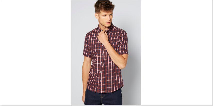 Short Sleeve Check Twill Shirt from Studio
