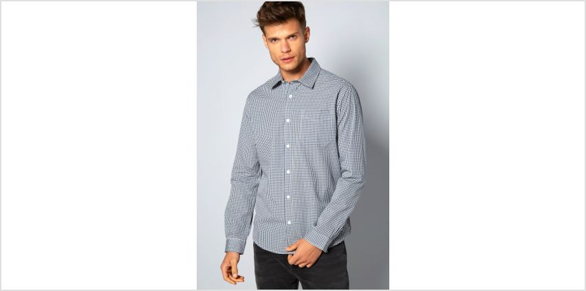 Long Sleeve Checked Twill Shirt from Studio