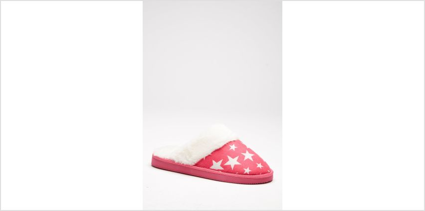 Fluffy Faux Fur Lined Mule Slippers from Studio