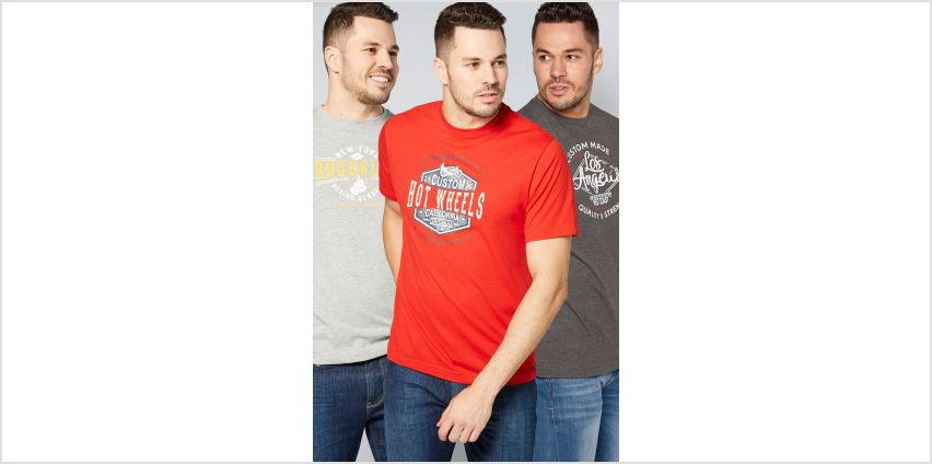 Pack of 3 Printed T-Shirts from Studio
