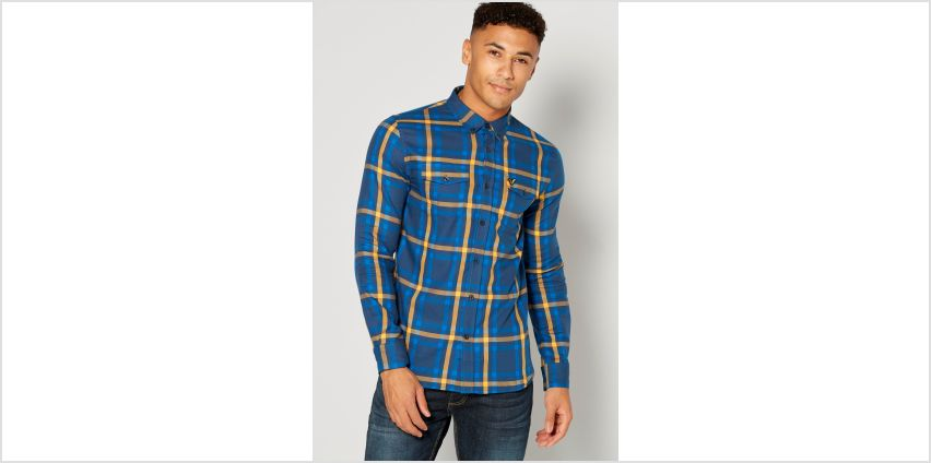 Voi Blue Check Long Sleeve Shirt from Studio