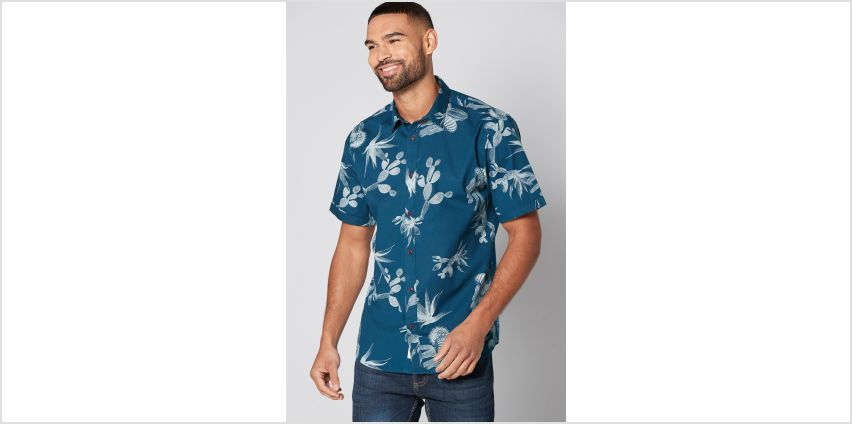 Only and Sons Cactus Print Short Sleeve Shirt from Studio