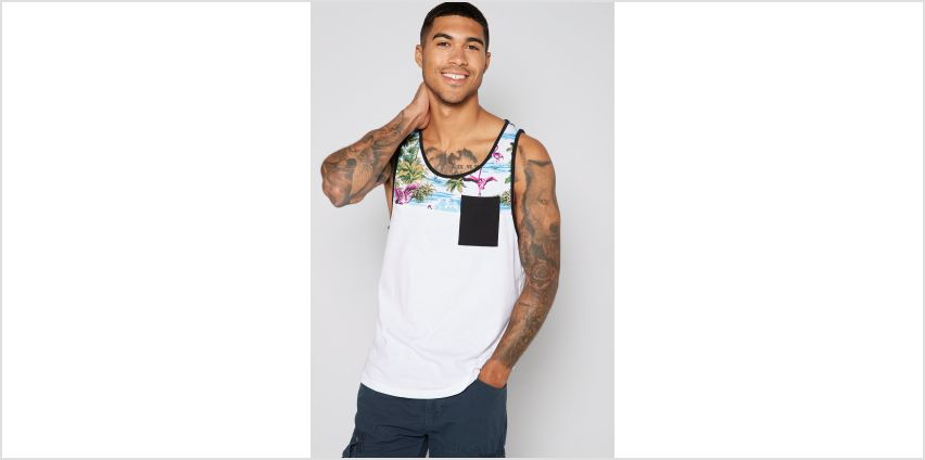 Only and Sons Flamingo Print Vest Top from Studio