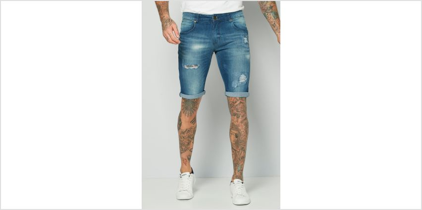 CRS55 Ripped Denim Shorts from Studio