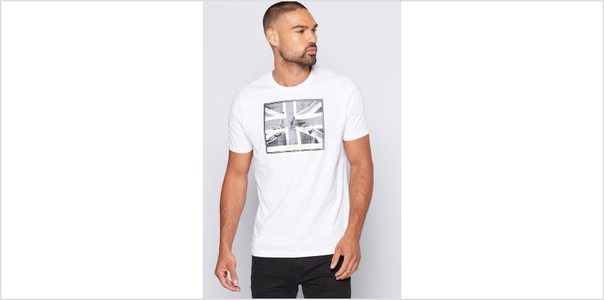 Ben Sherman Flag Logo White T-Shirt from Studio