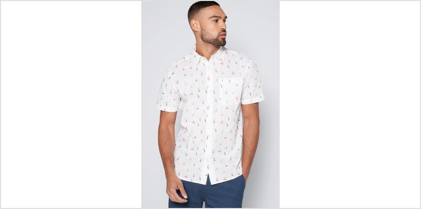 Hawaiian Ditzy Print White Shirt from Studio