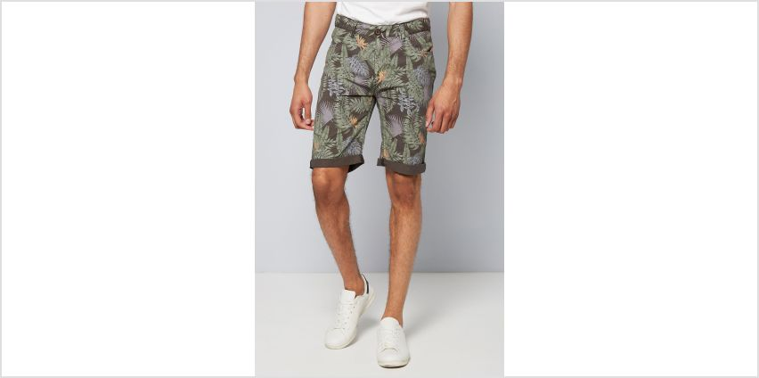 Crosshatch Floral Print Chino Shorts from Studio