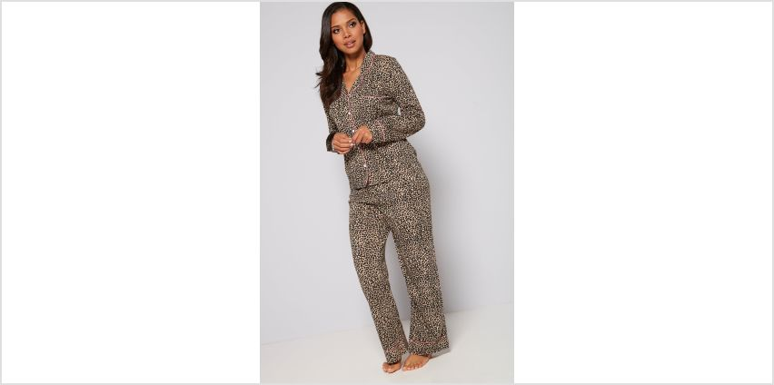 Leopard Print Long Sleeve Shirt Pyjamas from Studio