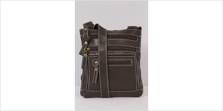 Leather Multi Zip Cross Body Bag from Studio