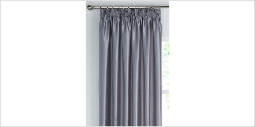 Faux Silk Lined Pencil Pleat Curtains from Studio