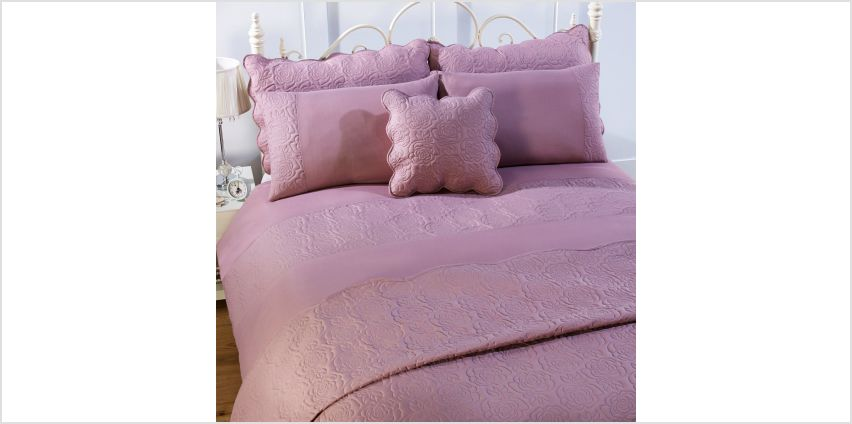 Couture Rose Pair Of Scalloped Pillowshams from Studio