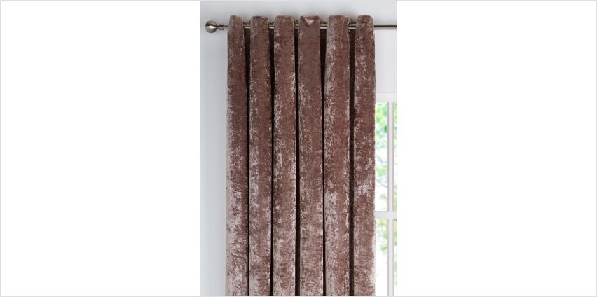 Crushed Velvet Lined Curtains from Studio