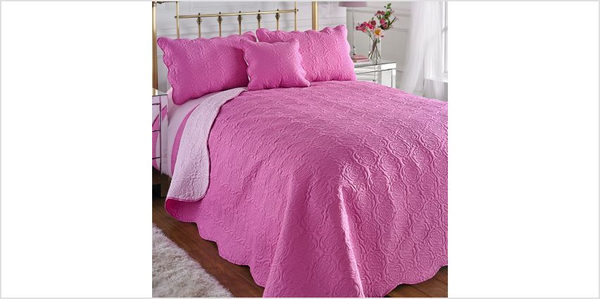 Couture Rose Duo Quilted Pillowshams from Studio