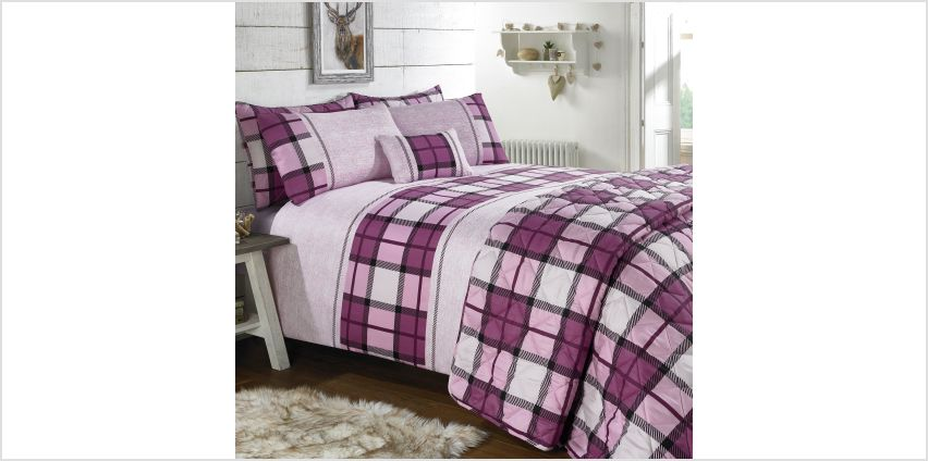 Country Check Boudoir Cushion from Studio