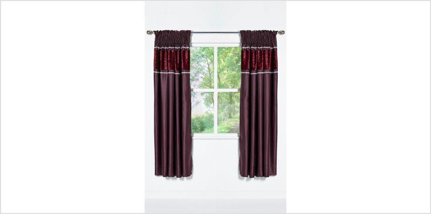 Floral Embossed Velvet Curtains from Studio