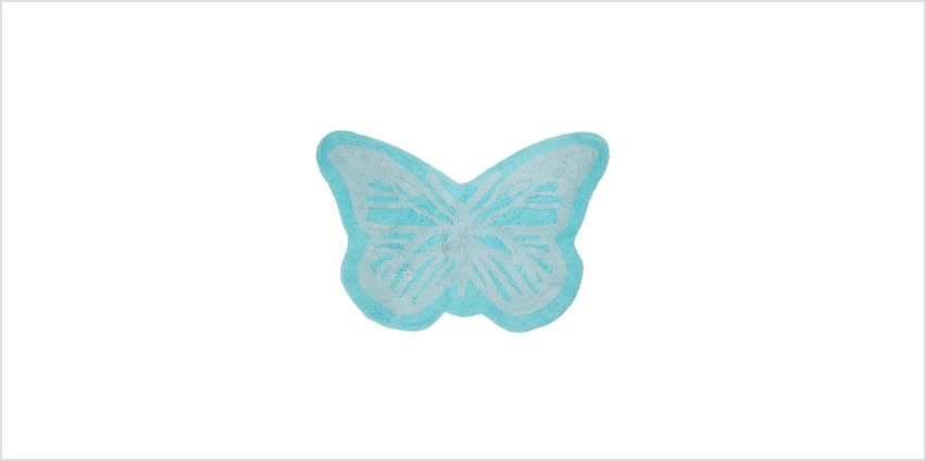 Butterfly Embroidered Border Bath Mat from Studio