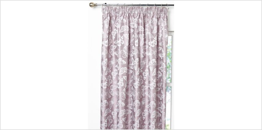 Butterfly Jacquard Lined Curtains from Studio
