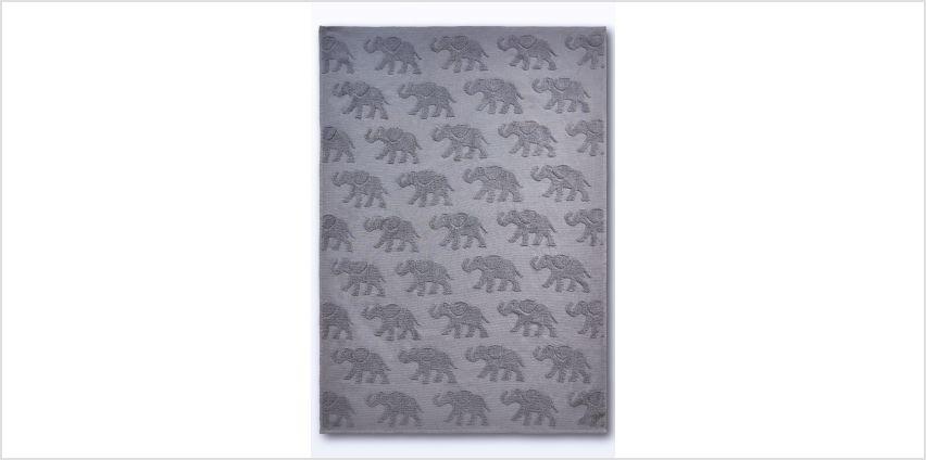 Elephant Embossed Towel from Studio