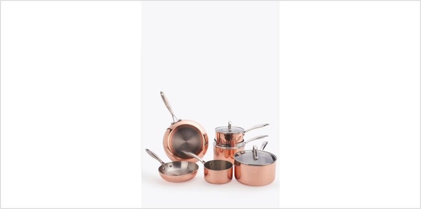 6-Piece Copper Pan Set from Studio