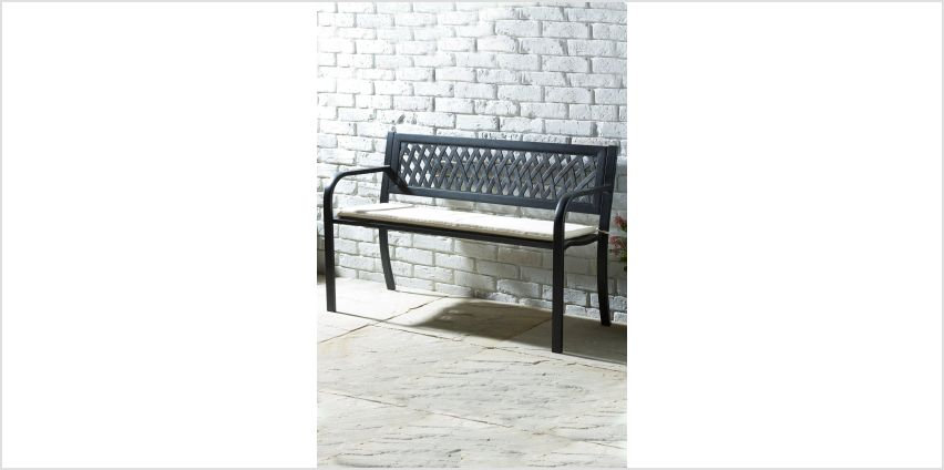 Steel Bench with Cushion from Studio