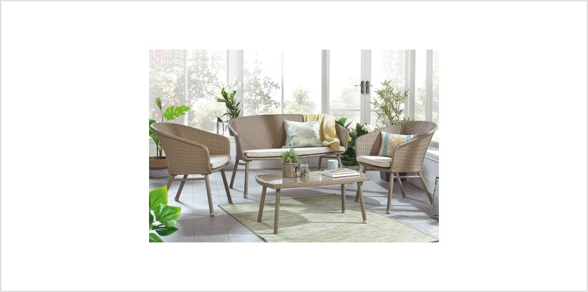 4-Piece Rattan Effect Sofa Set from Studio