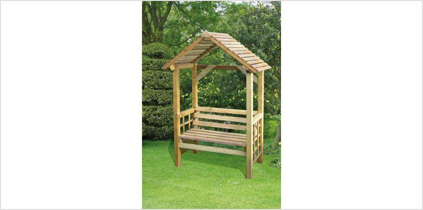 Athena Wooden Bench with Arbour from Studio