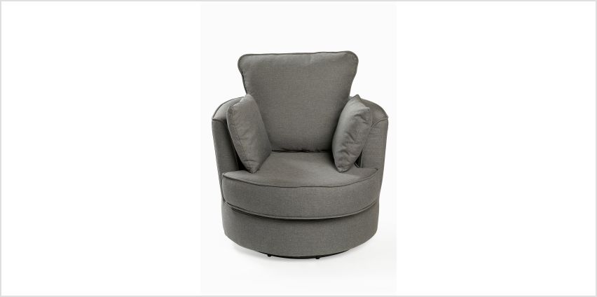 Swivel Relaxer Fabric Chair with Cushions from Studio