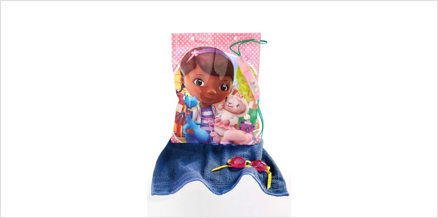 Swim Bag, Goggles and Personalised Towel - Doc McStuffins from Studio