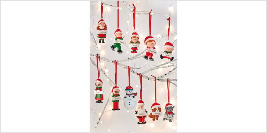 Personalised Family Christmas Decoration from Studio