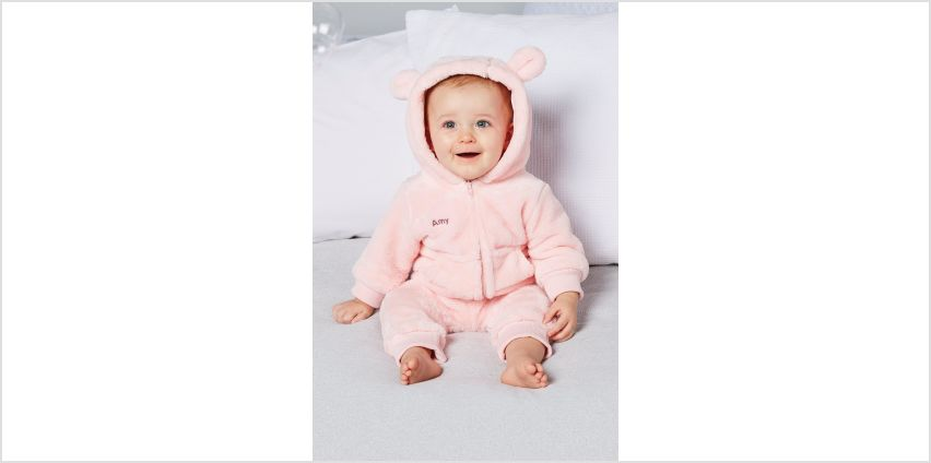 Babys Personalised Embroidered Fleece Romper from Studio