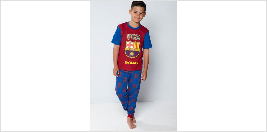 Boys Personalised FC Barcelona Pyjamas from Studio