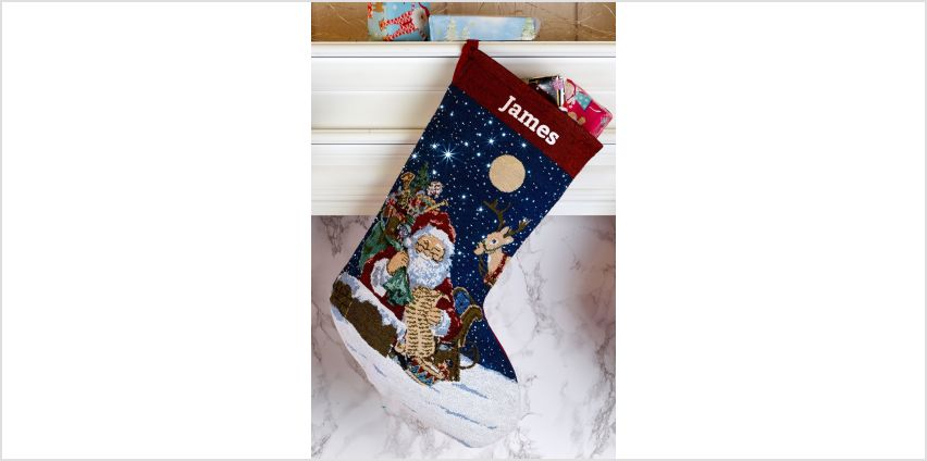 Personalised Santa Light Up Christmas Stocking from Studio