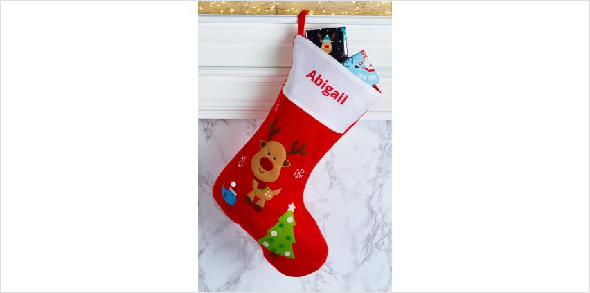 Personalised Rudolph Christmas Stocking from Studio