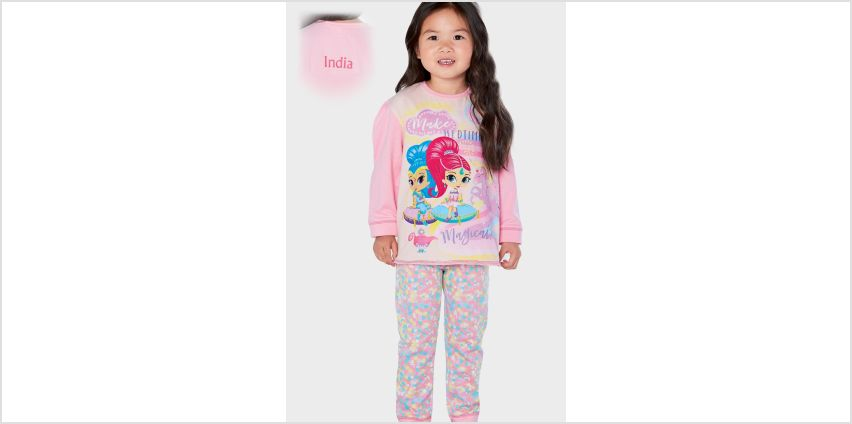 Girls Personalised Shimmer and Shine Make Bedtime Pyjamas from Studio