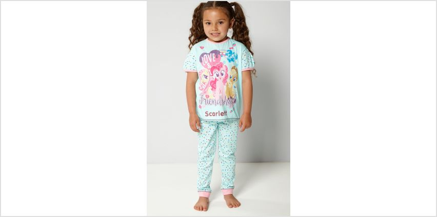 Girls Personalised My Little Pony Friendship Pyjamas from Studio