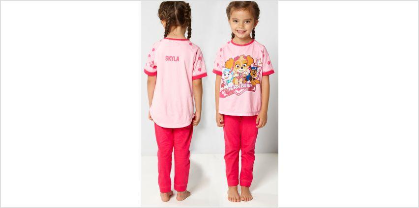 Young Girls Personalised Paw Patrol Born Brave Pyjamas from Studio